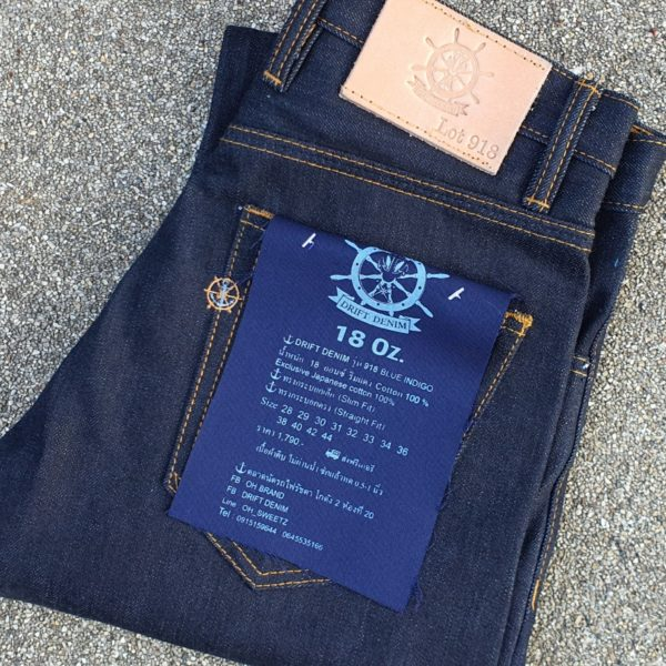 DRIFT DENIM By Ohbrand 918 Red Selvage 18 OZ